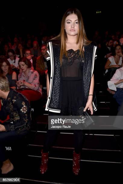 Thylane Blondeau attends the Dolce Gabbana show during Milan Fashion Week Spring/Summer 2018 on September 24 2017 in Milan Italy