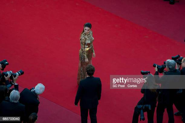 Thylane Blondeau attends the 'Okja' premiere during the 70th annual Cannes Film Festival at Palais des Festivals on May 19 2017 in Cannes France