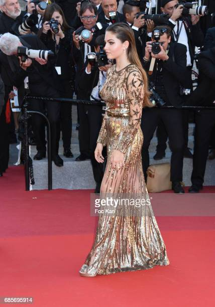 Thylane Blondeau attends the 'Okja' Screening during the 70th annual Cannes Film Festival at Palais des Festivals on May 19 2017 in Cannes France