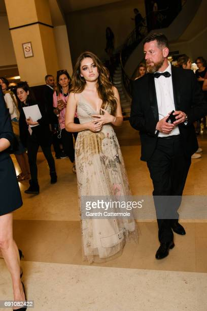 Thylane Blondeau departs the Martinez Hotel during the 70th annual Cannes Film Festival on May 18 2017 in Cannes France
