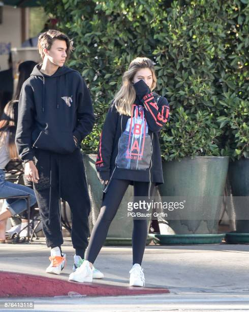 Thylane Blondeau is seen on November 19 2017 in Los Angeles California