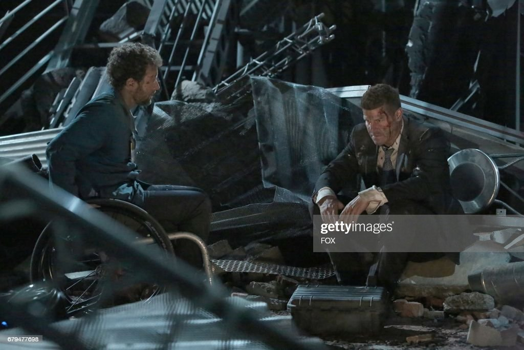 Thyne and David Boreanaz in 'The Final Chapter: The End in the End' series finale episode of BONES airing Tuesday, March 28 (9:01-10:00 PM ET/PT) on Fox.