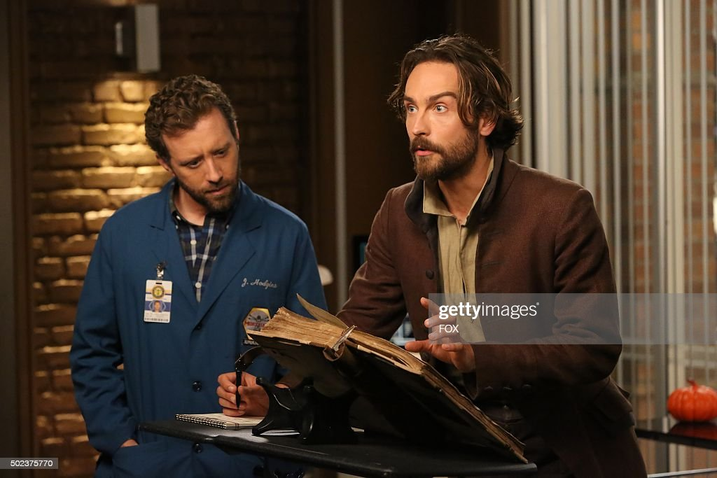 Thyne and guest star Tom Mison in the special 'The Resurrection in the Remains' BONES/SLEEPY HOLLOW crossover episode of BONES airing Thursday, Oct. 29 (8:00-9:00 PM ET/PT) on FOX.