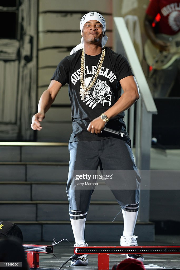 Ti performs at Cruzan Amphitheatre on July 14, 2013 in West Palm Beach, Florida.