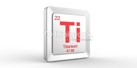 Ti Symbol 22 Material For Titanium Chemical Element Stock Photo