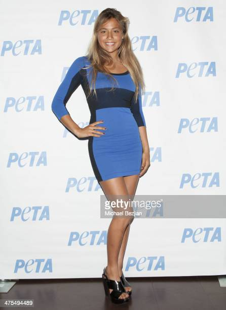 Tia Blanco attends Actress and Author Mayim Bialik and PETA Celebrate The Launch Of 'Mayim's Vegan Table' at The Bob Barker Building on February 27...