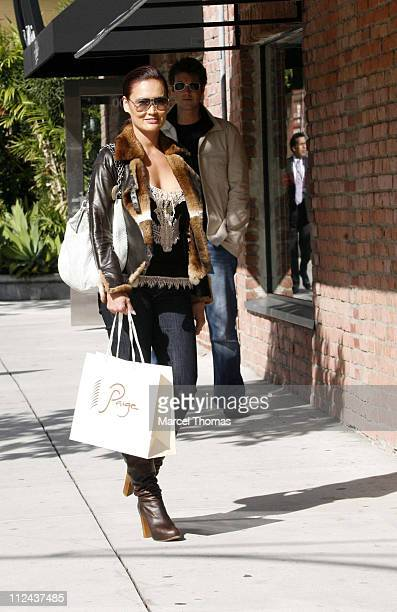 Tia Carrere and friend during Celebrity Sightings in Beverly Hills February 23 2007 at Robertson Boulevard in Beverly Hills California United States