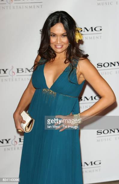 Tia Carrere arrives at the Sony BMG Grammy party at the Beverly Hills Hotel Los Angeles