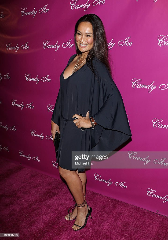 <a gi-track='captionPersonalityLinkClicked' href=/galleries/search?phrase=Tia+Carrere&family=editorial&specificpeople=209062 ng-click='$event.stopPropagation()'>Tia Carrere</a> arrives to the 'Candy Ice' jewelry launch event held at MyStudio Nightclub on August 13, 2010 in Los Angeles, California.