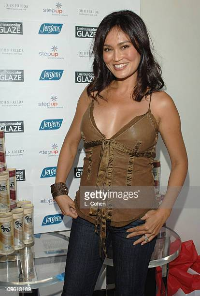Tia Carrere during John Frieda Luminous Color Glaze PreEmmy Suite at Roosevelt Hotel in Hollywood California United States