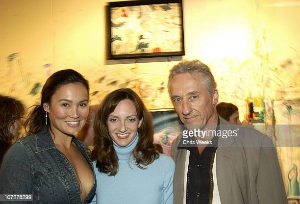 Tia Carrere Victoria Duffy and guest during An Evening in the Studio of Kenny Scharf Benefitting Los Angeles Contemporary Exhibitions at Studio of...