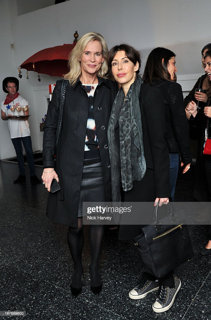 Tia Graham (L) and guest attend the book launch of Art Studio America at ICA on November 11, 2013 in London, England.