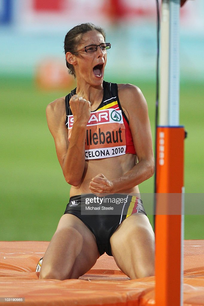 <a gi-track='captionPersonalityLinkClicked' href=/galleries/search?phrase=Tia+Hellebaut&family=editorial&specificpeople=597909 ng-click='$event.stopPropagation()'>Tia Hellebaut</a> of Belgium competes in the Womens High Jump Final during day six of the 20th European Athletics Championships at the Olympic Stadium on August 1, 2010 in Barcelona, Spain.