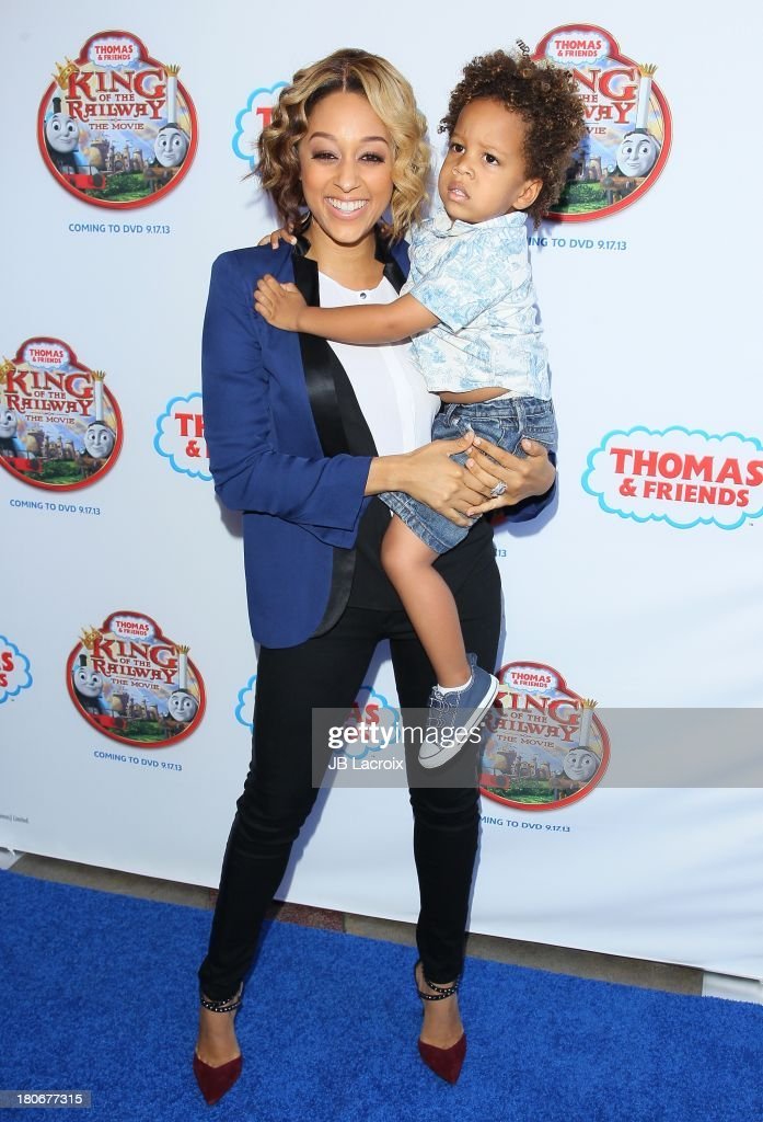 <a gi-track='captionPersonalityLinkClicked' href=/galleries/search?phrase=Tia+Mowry&family=editorial&specificpeople=631098 ng-click='$event.stopPropagation()'>Tia Mowry</a> (L) and Cree Hardrict arrive at 'Thomas & Friends: King Of The Railway - The Movie' - Los Angeles Premiere held at Pacific Theatre at The Grove on September 15, 2013 in Los Angeles, California.