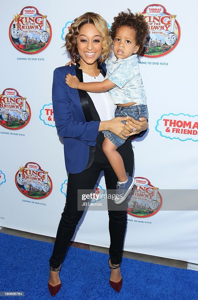 <a gi-track='captionPersonalityLinkClicked' href=/galleries/search?phrase=Tia+Mowry&family=editorial&specificpeople=631098 ng-click='$event.stopPropagation()'>Tia Mowry</a> and Cree Hardrict attend the 'Thomas & Friends: King Of The Railway - The Movie' Los Angeles Premiere held at Pacific Theatre at The Grove on September 15, 2013 in Los Angeles, California.