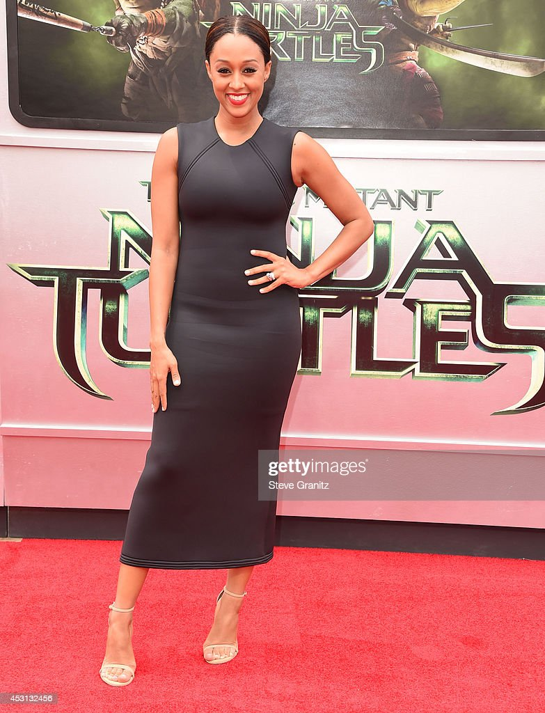 Tia Mowry arrives at the 'Teenage Mutant Ninja Turtles' at Regency Village Theatre on August 3, 2014 in Westwood, California.