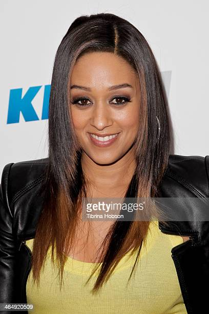 Tia Mowry attends the KIIS 1027 and ALT 987 FM preGrammy party and lounge at JW Marriott Los Angeles at LA LIVE on January 24 2014 in Los Angeles...