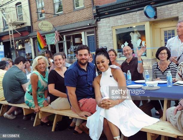 Tia Mowry hosts 'Family Dinner with Dawn' inviting the town of Lambertville to dinner taking care of the nearly 6000 dishes with one bottle of Dawn...