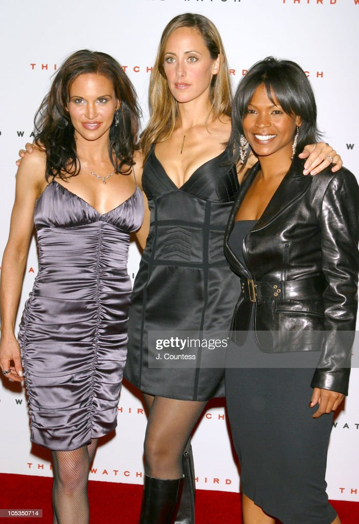 Tia Texada Kim Raver and Nia Long during Third Watch 100th Episode Celebration Arrivals at Capriani in New York City NY United States