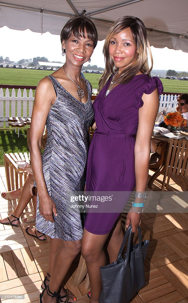 Tia Walker (R) and mother Peggie Walker attend the closing day of the Mercedes-Benz Polo Challenge at Blue Star Jets Field at Two Trees Farm on August 22, 2009 in Bridgehampton, New York.