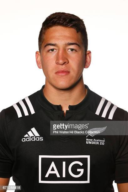 Tiaan Falcon poses during the New Zealand U20 Headshots Session at Novotel Auckland Airport on April 22 2017 in Auckland New Zealand