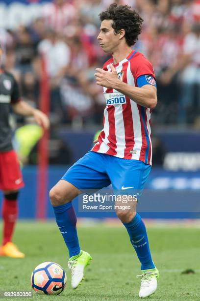 Tiago Cardoso Mendes of Atletico de Madrid in action during the La Liga match between Atletico de Madrid and Athletic de Bilbao at the Estadio...