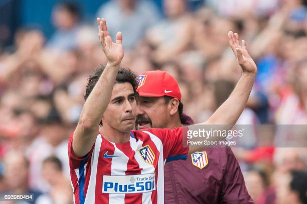 Tiago Cardoso Mendes of Atletico de Madrid reacts during the La Liga match between Atletico de Madrid and Athletic de Bilbao at the Estadio Vicente...