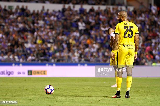 Tiago Correia quotBebequot during the Spanish league football match Real Club Deportivo de La Coruña vs SD Eibar at estadio Municipal de Riazor on...
