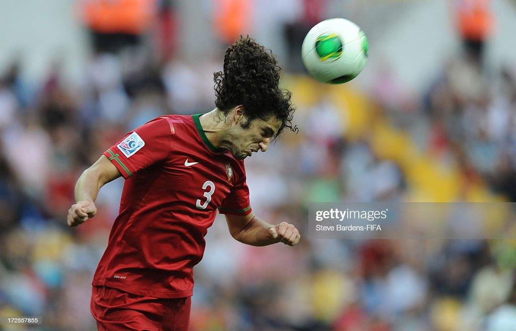 Tiago Ferreira of Portugal heads the ball during the FIFA U20 World Cup Round of 16 match between Portugal and Ghana at Kadir Has Stadium on July 3, 2013 in Kayseri, Turkey.