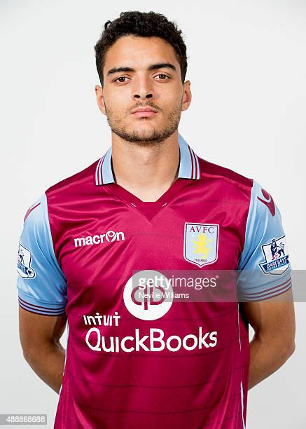 Tiago Ilori of Aston Villa poses for a picture during the Aston Villa official photo at the club's training ground at Bodymoor Heath on September 15...