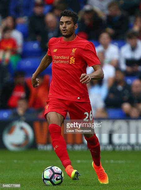 Tiago Ilori of Liverpool during the PreSeason Friendly match between Tranmere Rovers and Liverpool at Prenton Park on July 8 2016 in Birkenhead...