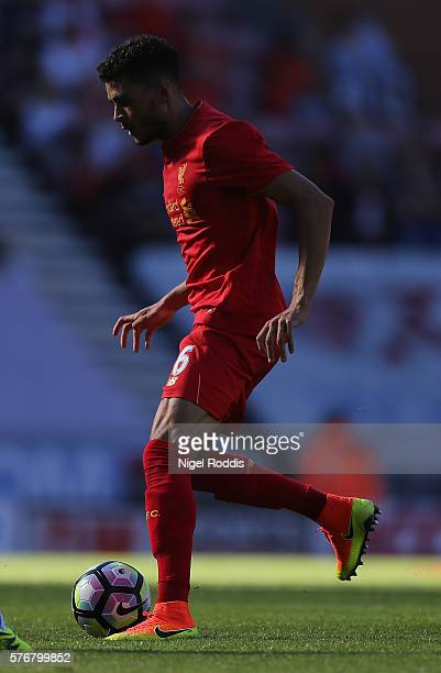 Tiago Ilori of Liverpool during the PreSeason Friendly match between Wigan Athletic and Liverpool at JJB Stadium on July 17 2016 in Wigan England