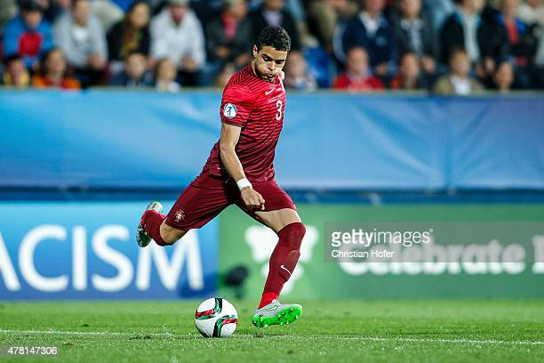 Tiago Ilori of Portugal controls the ball during the UEFA Under21 European Championship 2015 match between Italy and Portugal at Mestsky Fotbalovy...