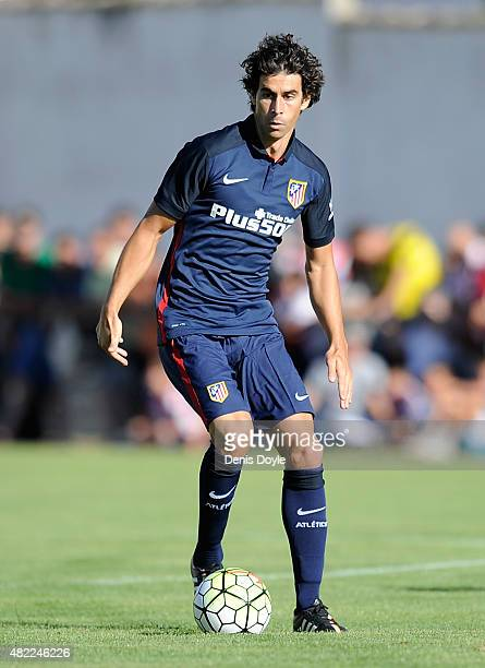 Tiago Mendes of Club Atletico de Madrid in action during the Jesus Gil y Gil Memorial preseason friendly match between Numancia and Club Atletico de...