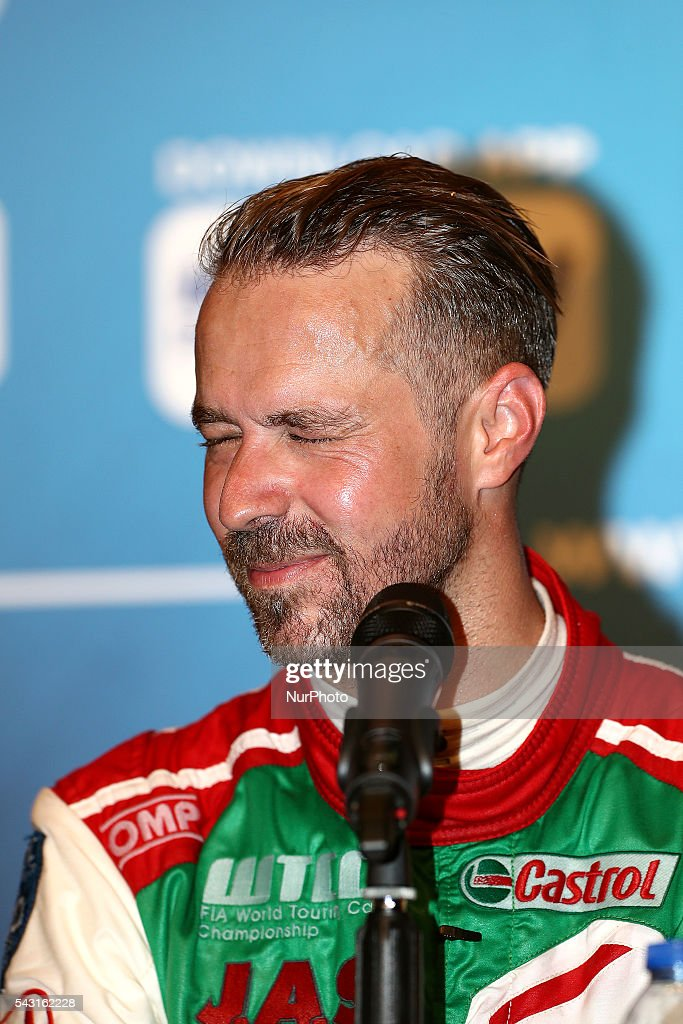 Tiago Monteiro (PRT) winner of the race in press conference during FIA WTCC 2016, at Vila Real in Portugal, on June 25, 2016.