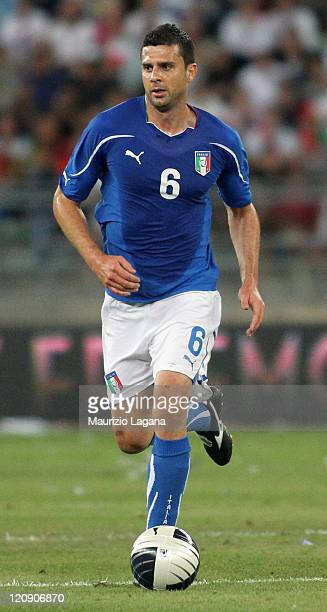 Tiago Motta of Italy during the international friendly match between Italy and Spain at Stadio San Nicola on August 10 2011 in Bari Italy