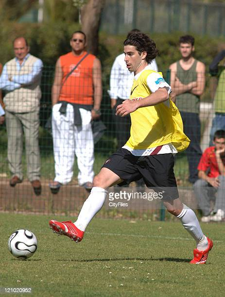 Tiago of the Portuguese national team at their afternoon training session to prepare for the FIFA 2006 World Cup at the Jamor National Stadium in...