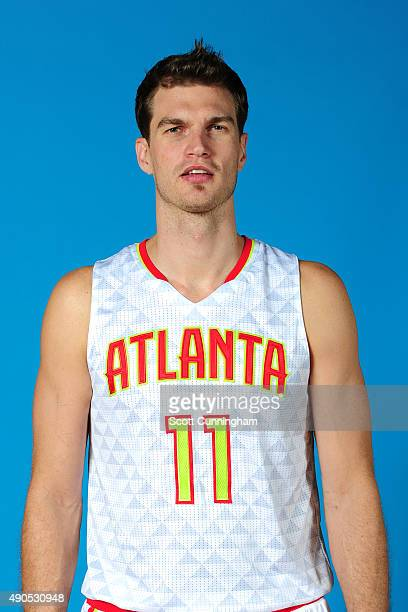 Tiago Splitter of the Atlanta Hawks poses for a photo during media day on September 28 2015 at Philips Arena in Atlanta Georgia NOTE TO USER User...