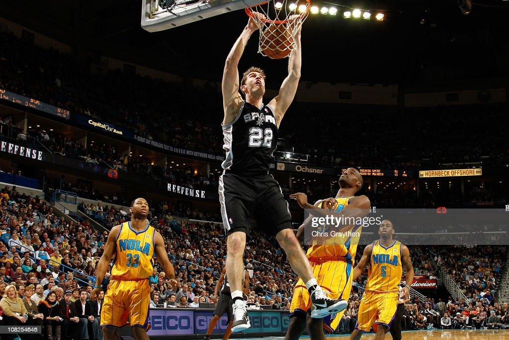 San Antonio Spurs v New Orleans Hornets