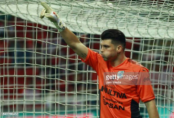 Tiago Volpi of Queretaro during the seventh round match between Chivas and Queretaro as part of the Torneo Apertura 2017 Liga MX at Omnilife Stadium...