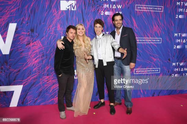 Tiago Worcman Lele Pons Juanpa Zurita and Eduardo Lebrija attend the MTV MIAW Awards 2017 at Palacio de Los Deportes on June 3 2017 in Mexico City...