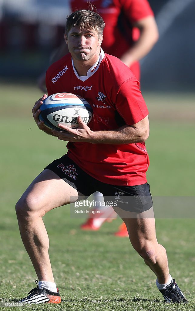 Tian Meyer during The Sharks training session at Growthpoint Kings Park on June 11, 2013 in Durban, South Africa.