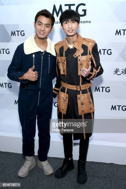 Tian Yu and Yangyang Zhang attend GRAMMY Gift Lounge during the 59th GRAMMY Awards at STAPLES Center on February 10 2017 in Los Angeles California