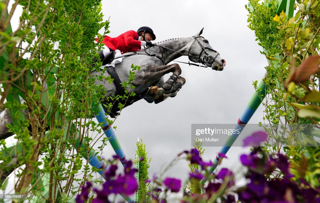 Tiana Coudray of The USA riding Ringwood Magister during the Show Jumping on day five of the Badminton Horse Trials on May 11, 2014 in Badminton, England.