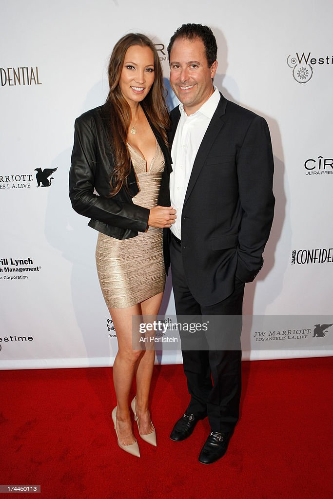 Tiana Klein and Jerry Klein arrive at Los Angeles Confidential Magazine Celebrates With Cover Star Sean Combs Summer Issue Party Honors LA's Business Titans at JW Marriott Los Angeles at L.A. LIVE on July 25, 2013 in Los Angeles, California.