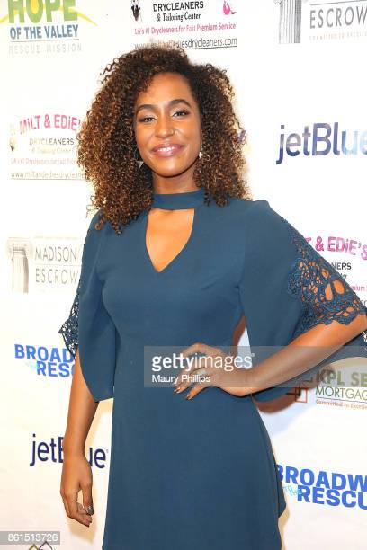 Tiana Okoye attends Broadway to The Rescue a benefit for the homeless at The Montalban Theater on October 14 2017 in Los Angeles California