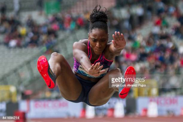 Tianna Bartoleta of the United States competes in women's Long jump during the AG Insurance Memorial Van Damme as part of the IAAF Diamond League...