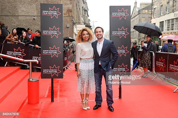 Tianna Chanel Flynn and Martin Compston attends the screening of 'Tommy's Honour' and opening gala of the Edinburgh International Film Festival at...