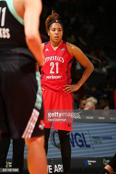 Tianna Hawkins of the Washington Mystics is seen against the New York Liberty on May 14 2016 at Verizon Center in Washington DC NOTE TO USER User...