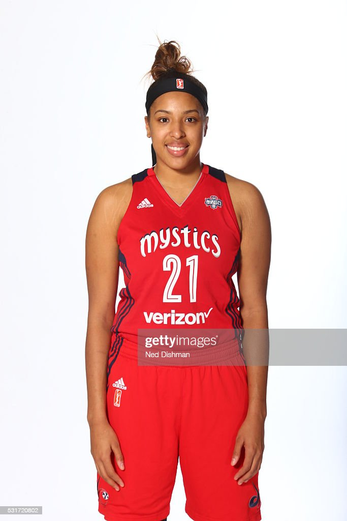 <a gi-track='captionPersonalityLinkClicked' href=/galleries/search?phrase=Tianna+Hawkins&family=editorial&specificpeople=6559085 ng-click='$event.stopPropagation()'>Tianna Hawkins</a> #21 of the Washington Mystics poses for a portrait during Media Day on May 14, 2016 at Verizon Center in Washington, DC.